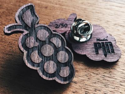 Grape Wooden Pin