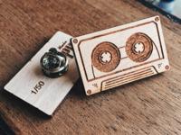 Cassette Wooden Pin