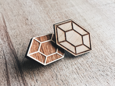 Wooden Rupee Pin Set