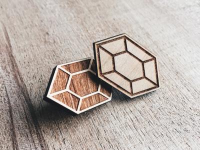Wooden Rupee Pin Set