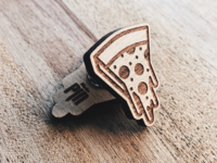 Cheesy Pizza Wooden Pin