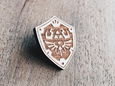 Hylian Shield Wooden Pin