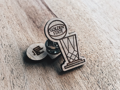 Golden State Champ Wooden Pin