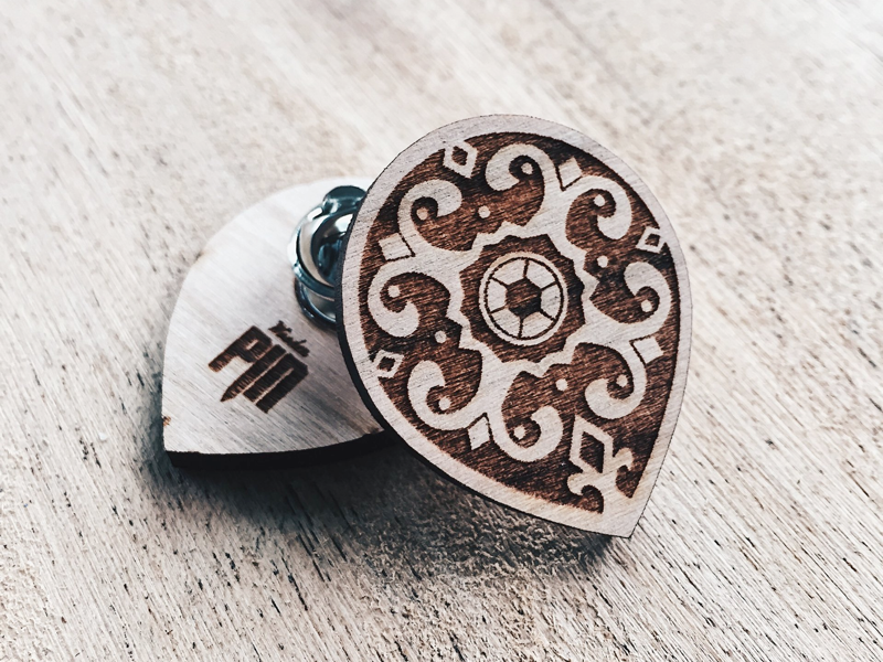 Radiant shield pin