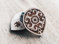 Radiant Shield Wooden Pin