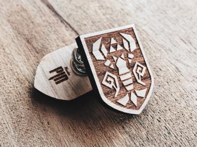 Phantom Hourglass Wooden Shield Pin