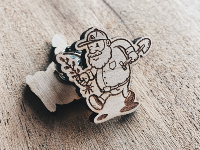 Old Man Wooden Pin