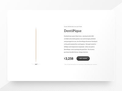 DentiPique - Premium Toothpick price card product expensive 360 white premium toothpick