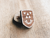 Link's Awakening Shield Wooden Pin
