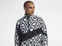 Sportswear mens half zip printed jacket mekrqn