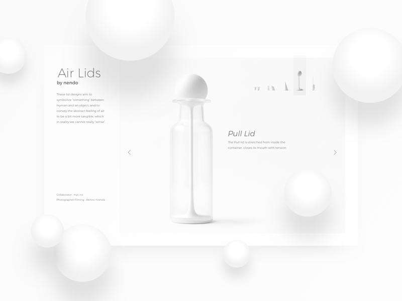Air Lids interface ui ux spheres depth sketch product design glass white balls lids air