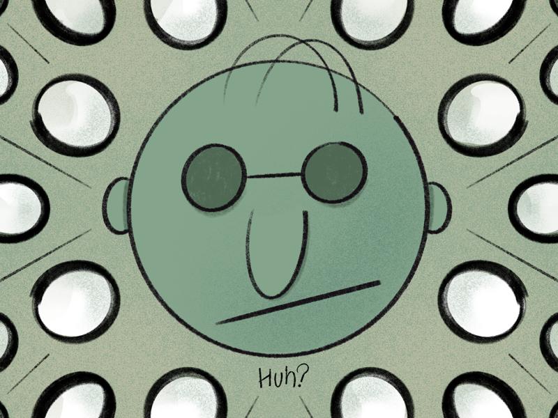 Huh? circles shading character ipad illustration procreate