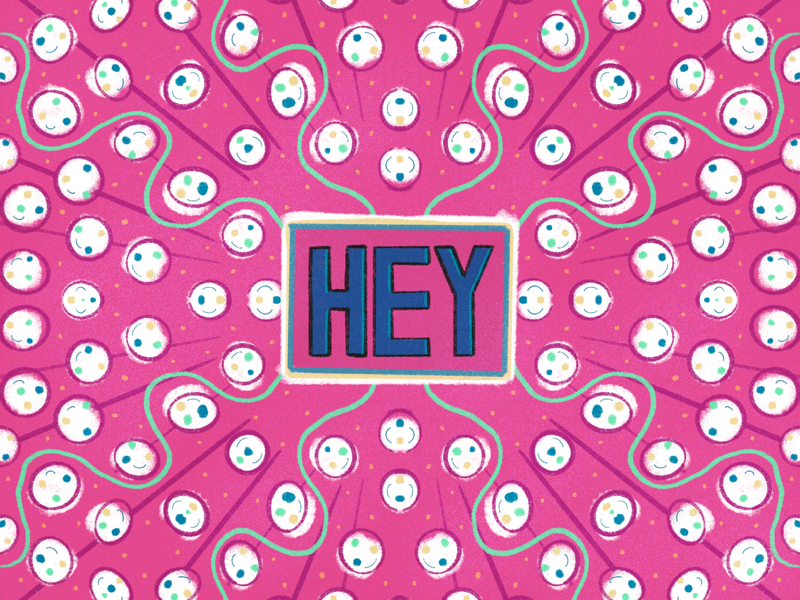 Hey ipad procreate drawing hand drawn hand lettering circles symmetry type lettering