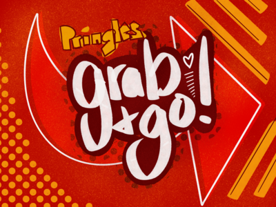 Pringles lettering arrow halftone procreate sketch illustration chips typography type