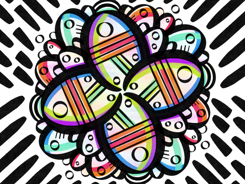 Symmetry ipad pattern flower symmetry procreate