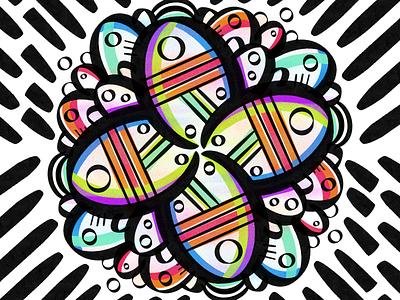 Symmetry ipad pattern flower symmetry procreate