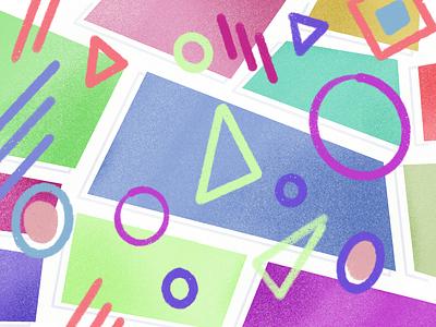 Shapes pastel design illustration blocks circles ipad procreate shapes