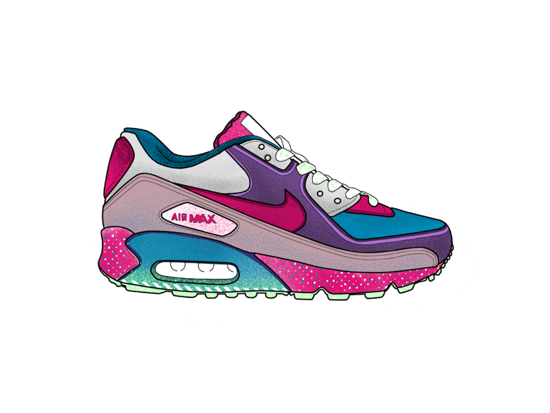 Nike Air Max - Play textures shading coloring texture illustration running nike shoe ipad procreate air max
