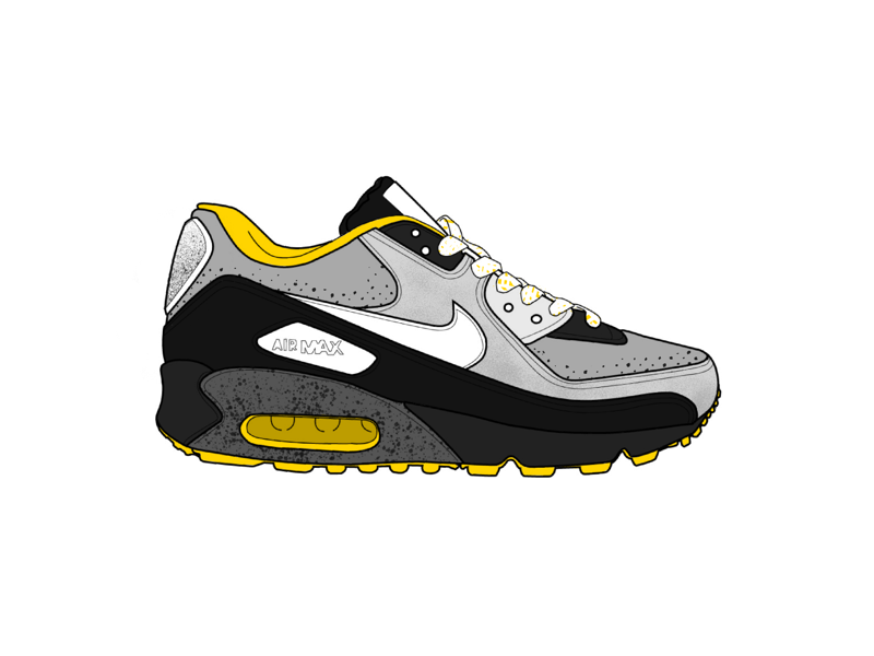Nike Air Max - Asphalt textures pattern running shoes ipad procreate drawing illustration shading coloring air max nike shoechallenge