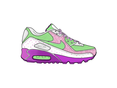 Nike Air Max - Chubby Checker drawing patterns sneaker head pattern exercise running illustrate illustration ipad procreate air max shoe shoes nike