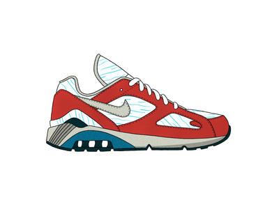 Nike Air Max 180 - Chill procreate app running nike shoes shoe color pattern design procreate ipad grey blue white illustration
