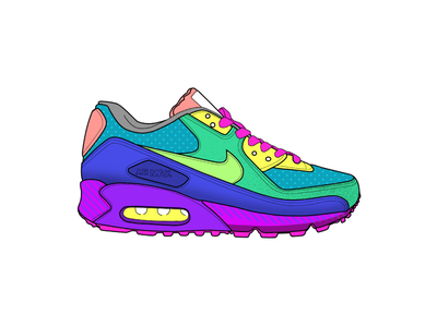Nike Air Max - Skate pattern procreate app shoe shoes running nike air max nike red vector design yellow texture green procreate ipad grey blue white illustration black