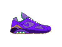 Nike Air Max 180 - Purple Rain running pattern air max nike ui blue vector design texture green procreate ipad grey white illustration black