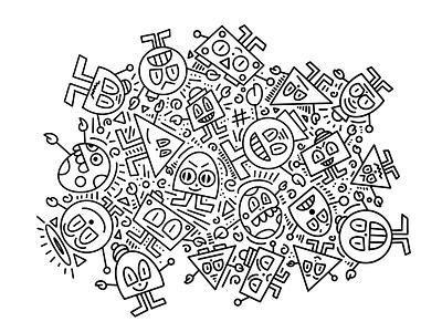 Doodles ipad procreate characters monsters sketching doodles illustration drawing sketch doodle mr doodle