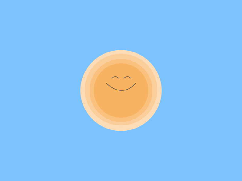 Happy sun illustration smile dribbble happy sun