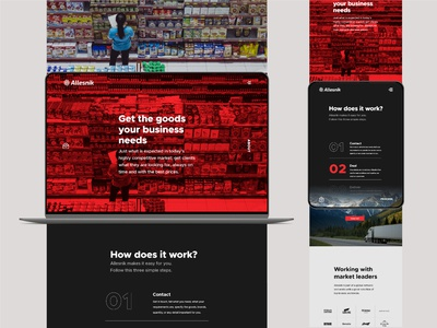 Allesnik web worldwide web design ux ui transportation single page shipment responsive design design