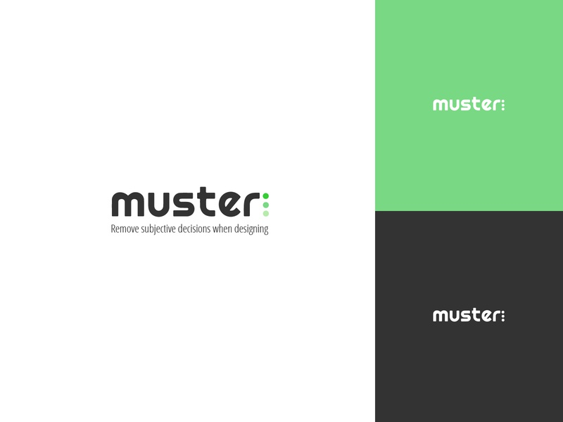 Muster Branding typography design branding logo
