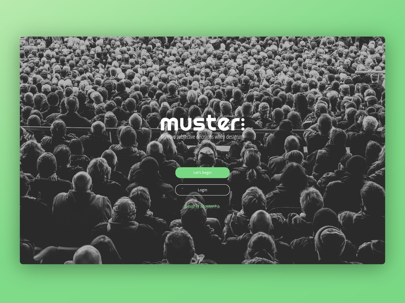 Muster Login Page website ui design logo branding