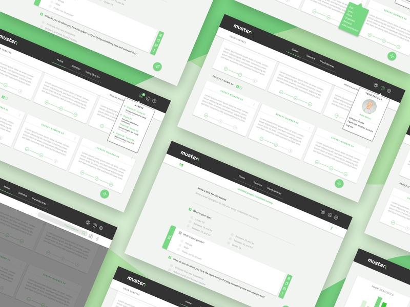 Muster UI desktop design desktop ux user research tool dashboard website ui design