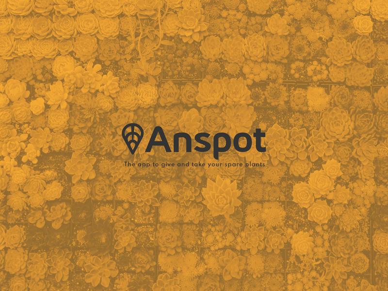 Anspot giveaway plants icon tack location app leaf app typography logo branding ui design