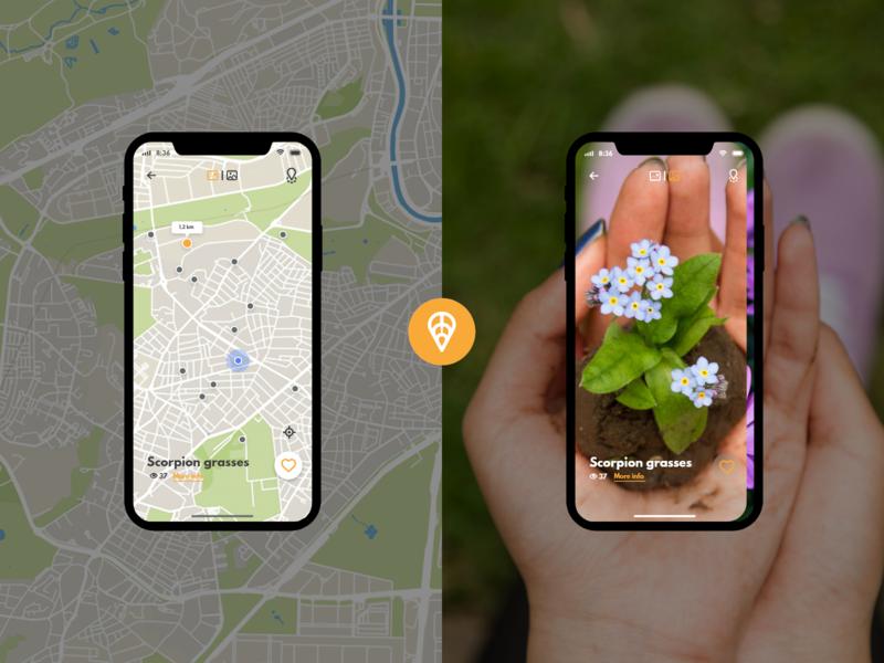 Anspot explore feature like button location app match card maps fab user flow search explore ux ui design iphone x give away design app community plants app logo ux ui design