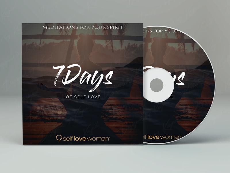 7 Days of self Love design logo design cd cover album cover artwork album art branding illustration