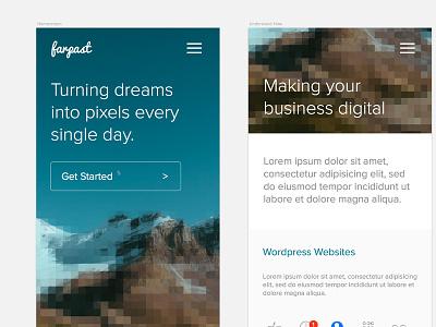 Mobile Farpast mobile concept sketch design farpast website