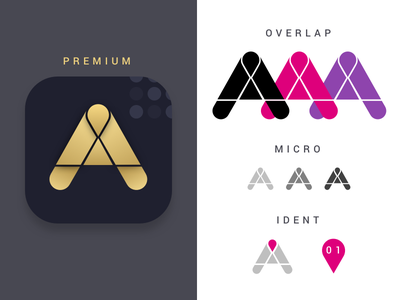 Internal 'App Team' Branding identity logo brand mark team app