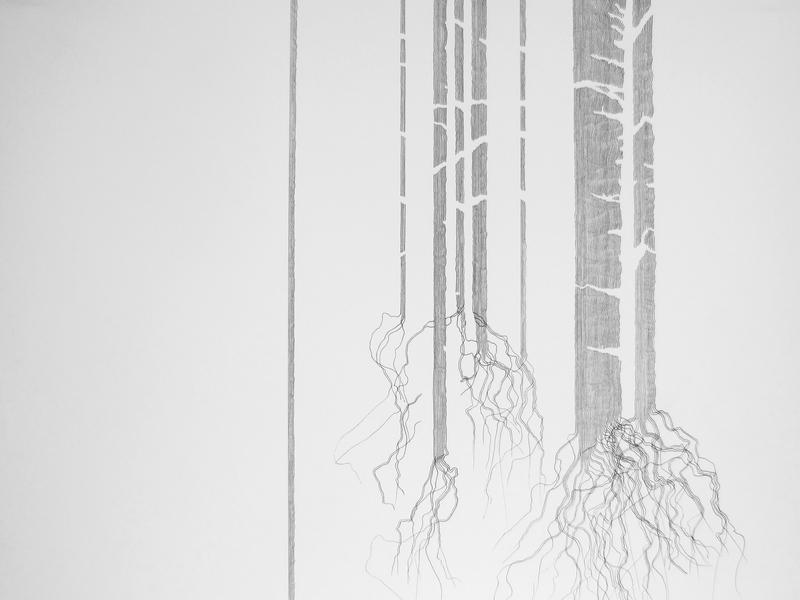 Krusifix : Skog Kanskje roots handmade nature simple trees norway drawing