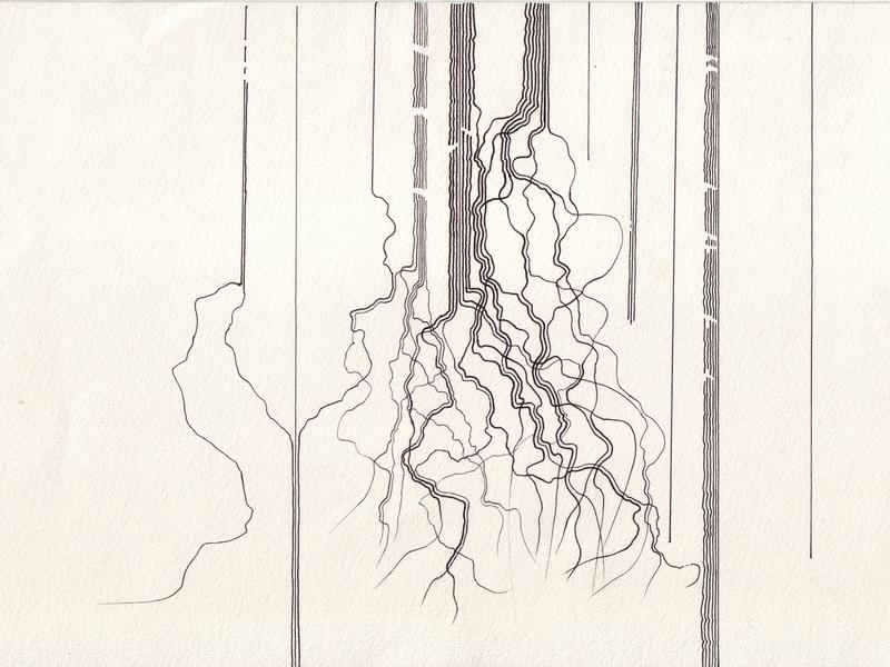 Krusifix : Rakneskog 1 norway series art forest trees art handmade drawing