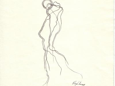 Krusifix : Figur Sort 0001 norway experimental abstract figure handmade art drawing
