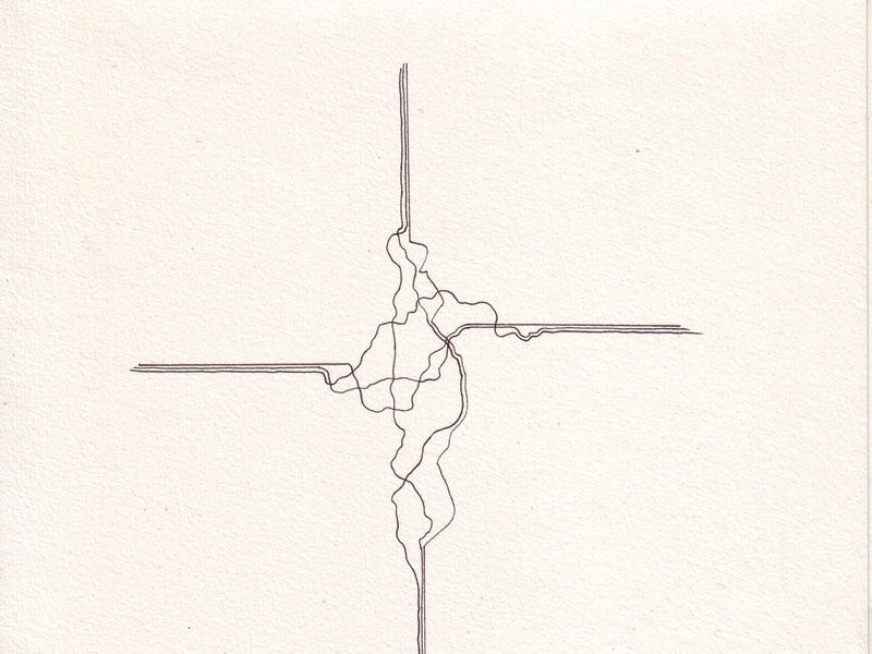 Kors cross icon clean creative art simple symbol artistic expression norway experimental drawing