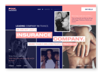 Pink. Insurance company page