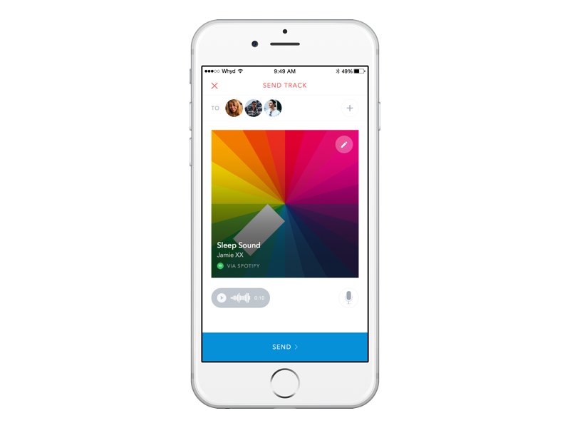 Share music with friends friends share white music iphone