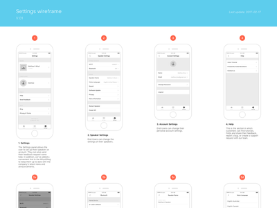 Settings Wireframe process layout iphone app documentation interaction ux feedback settings wireframe