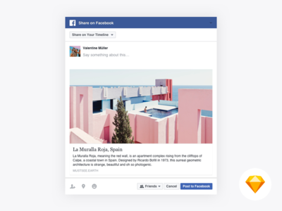Facebook Web Share Dialog Sketch Resource
