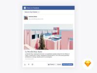 Facebook Web Share Dialog Sketch Resource modal prototype dialog share sketch free facebook