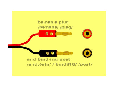 ban-ana shunte88 audio post binding plug banana