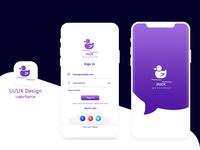 Login & sign up Ui kit Duck Messenger