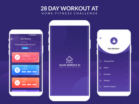 Android Ui Kit 28 Day Workout at Home Fitness Challenge